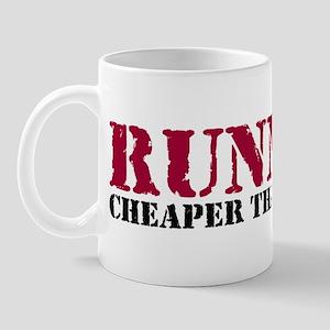 Running therapy red Mug