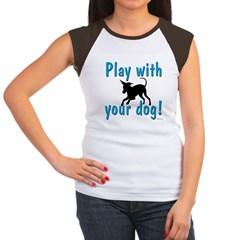 Play With Your Dog Women's Cap Sleeve T-Shirt