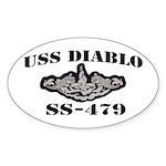 USS DIABLO Oval Sticker (50 pk)