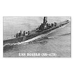 USS DIABLO Rectangle Sticker