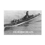 USS DIABLO Mini Poster Print
