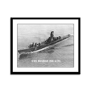 USS DIABLO Framed Panel Print