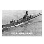 USS DIABLO Postcards (Package of 8)