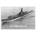 USS DIABLO Large Poster