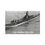 USS DIABLO Rectangle Magnet (100 pack)