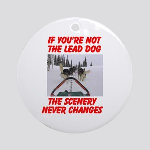 LEAD DOG Ornament (Round)