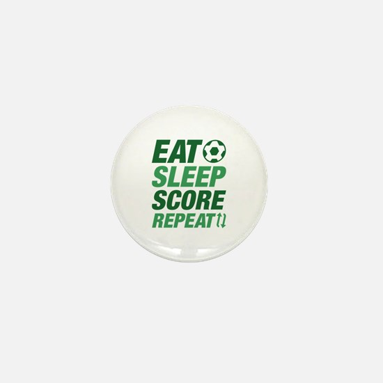 Eat Sleep Score Repeat Mini Button