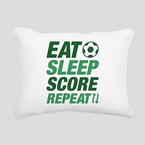 Eat Sleep Score Repeat Rectangular Canvas Pillow