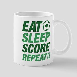 Eat Sleep Score Repeat Mug