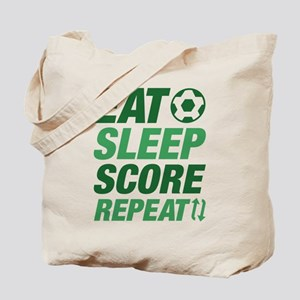 Eat Sleep Score Repeat Tote Bag