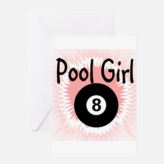 Unique 9 ball Greeting Card