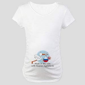 Stork Baby Russia USA Maternity T-Shirt