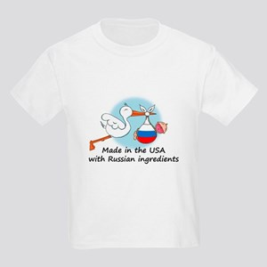 Stork Baby Russia USA Kids Light T-Shirt
