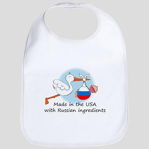 Stork Baby Russia USA Bib