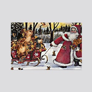 Sleigh Vintage Rectangle Magnet