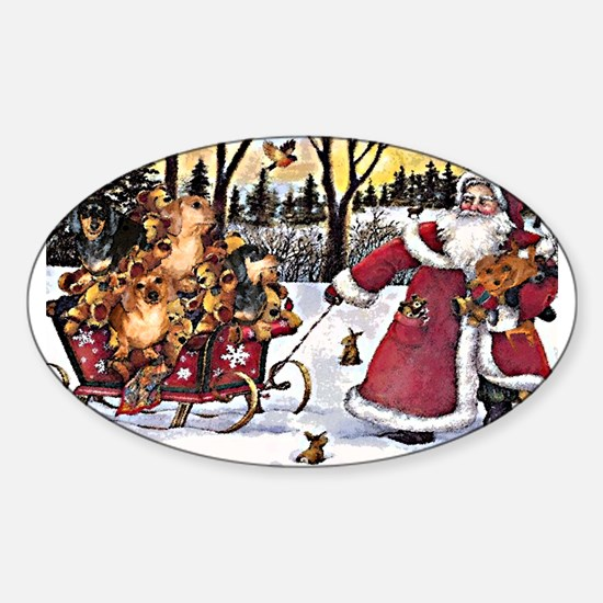 Sleigh Vintage Oval Decal