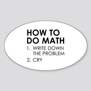 How To Do Math Sticker (Oval)