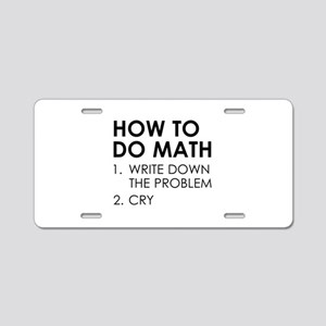 How To Do Math Aluminum License Plate