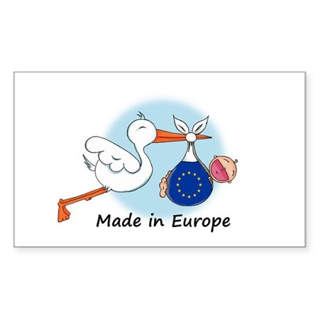 Stork Baby Europe Rectangle Sticker