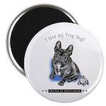 """Frog Dog (Brindle Boy) 2.25"""" Magnet (10 pack)"""