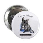 """Frog Dog (Brindle Boy) 2.25"""" Button (10 pack)"""