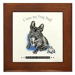 Frog Dog (Brindle Boy) Framed Tile