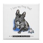 Frog Dog (Brindle Boy) Tile Coaster