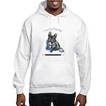 Frog Dog (Brindle Boy) Hooded Sweatshirt