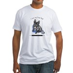 Frog Dog (Brindle Boy) Fitted T-Shirt