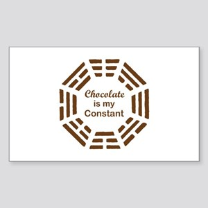 Chocolate is my Constant Rectangle Sticker