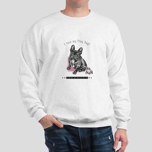 Frog Dog (Brindle Girl) Sweatshirt