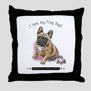 Frog Dog (BM Fawn Girl) Throw Pillow