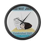 Crab Street Journal logo Large Wall Clock