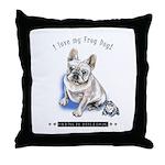 Frog Dog (Cream Boy) Throw Pillow