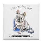 Frog Dog (Cream Boy) Tile Coaster
