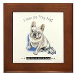 Frog Dog (Cream Boy) Framed Tile