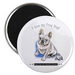 Frog Dog (Cream Boy) Magnet