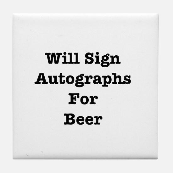 Unique Autograph Tile Coaster