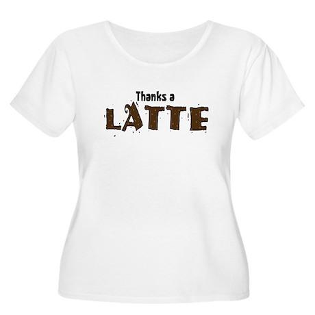Thanks A Latte Women's Plus Size Scoop Neck T-Shir