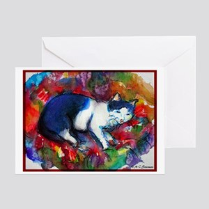 Cat, Bright, Cheerful, Greeting Card