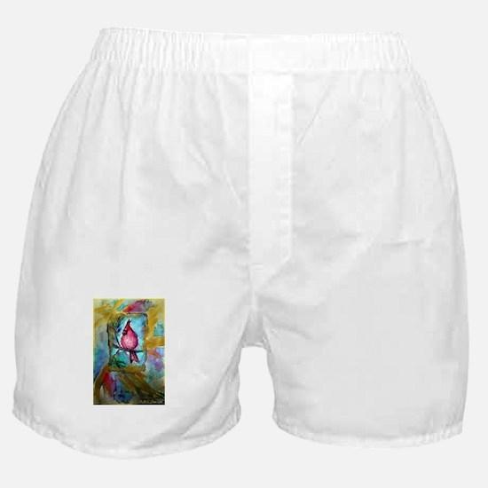 Cheerful, Cardinal-Boxer Shorts