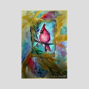 Beautiful, Cardinal-Rectangle Magnet