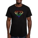 Super Gay! Neon Men's Fitted T-Shirt (dark)