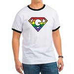 Super Gay! Outlined Ringer T