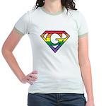 Super Gay! Outlined Jr. Ringer T-Shirt