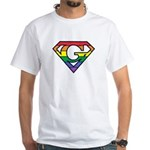 Super Gay! Outlined White T-Shirt