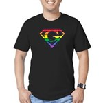 Super Gay! Outlined Men's Fitted T-Shirt (dark)