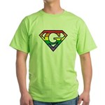 Super Gay! Outlined Green T-Shirt