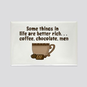 Coffee Chocolate & Men Rectangle Magnet
