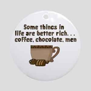 Coffee Chocolate & Men Ornament (Round)